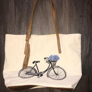 Sonoma Good for Life Canvas Off White Shoulder Bag